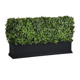 Outdoor Artificial Ivy Hedges in Black Window Boxes