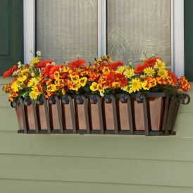 Venetian Decora Window Boxes With Metal Liners