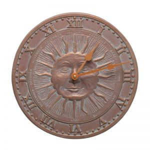 "12"" French Bronze Sunface Clock"