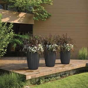 Tall Pleat Tapered Planter - Choose from 2 sizes and 8 colors