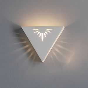 "12.5""  Inverted Pyramid Sconce w/ Sun Detail"