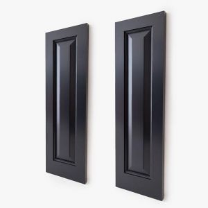 "12"" Wide Cedar One Panel Design Exterior Shutter Pair"