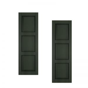 12in. Wide - Architectural Collection Raised 3 Equal Panel Shutters (pair)