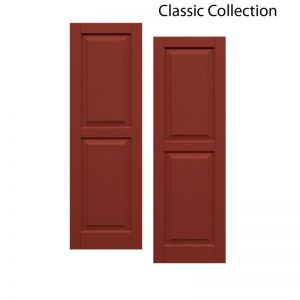 12in. Wide - Classic Collection Two Equal Raised Panel Shutters (pair)