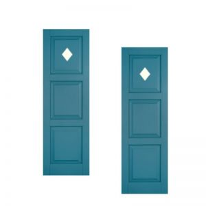 12in. Wide - Designer Collection Raised 3 Equal Panel Classic Collection Exterior Shutters (pair)