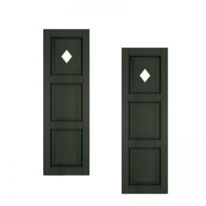 12in. Wide - Designer Collection Raised 3 Equal Panel Fiberglass Exterior Shutters (pair)