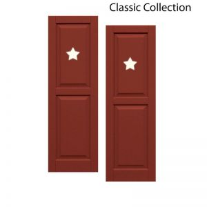 12in. Wide - Designer Collection Raised Two Equal Panel Classic Collection Composite Exterior Shutters (pair)