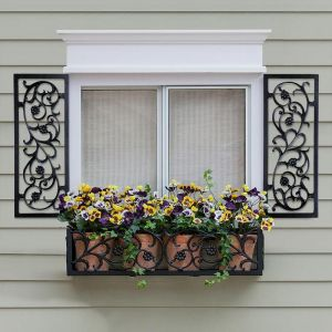 12in. Wide French Quarter Aluminum Decorative Shutters in Black - Pair