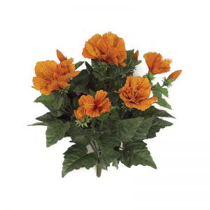 14in. Hibiscus Bush - Orange, Indoor