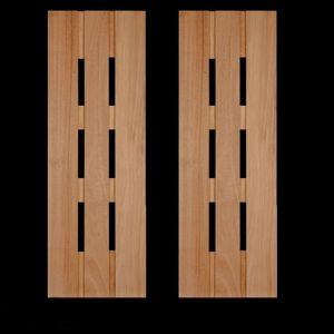 15in. Wide Abacab Design Cedar Exterior Shutter Pair