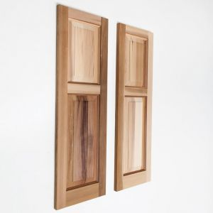 12in. Wide Cedar Two Unequal Panel Design - Exterior Shutter Pair
