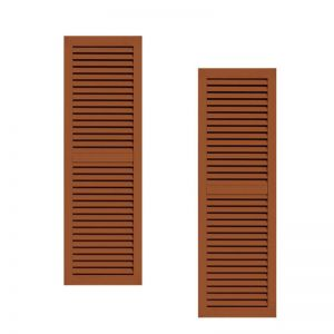 15in. Wide - Classic Collection 2 Panel Faux-Louvered Wood Composite Shutters (pair)