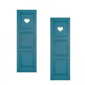 15in. Wide - Designer Collection Raised 3 Equal Panel Classic Collection Exterior Shutters (pair)