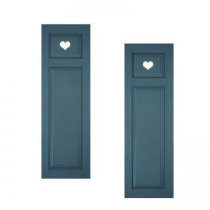 15in. Wide - Designer Collection Raised Two Unequal Panel Classic Collection Exterior Shutters (pair)