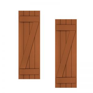15in. Wide with 3 Boards and Z-Bar - Classic Collection Composite Board & Batten Shutters (pair)