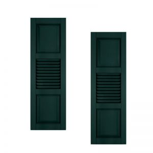 15in. Wide With Additional Panel - Architectural Collection Combination Composite Fiberglass Shutters (pair)