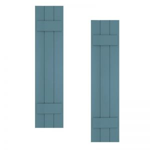 15in. Width with 3 Boards - Classic Collection Composite Board & Batten Shutters (pair)