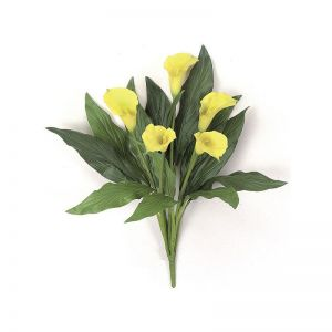 18in. Calla Lily Bush - Yellow, Indoor