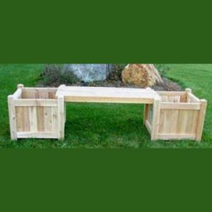 18in. Planter Bench System w/ Two Planters