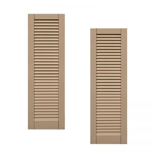18in. Wide - Classic Collection  Wood & Resin Composite Louvered Shutters (pair)