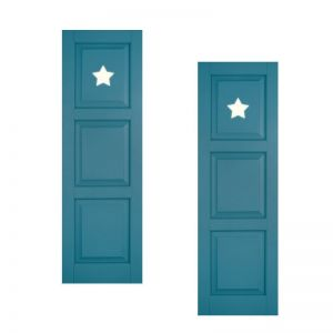 18in. Wide - Designer Collection Raised 3 Equal Panel Classic Collection Exterior Shutters (pair)