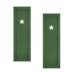 18in. Wide - Designer Collection Raised Single Panel Fiberglass Exterior Shutters (pair)