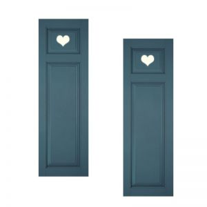 18in. Wide - Designer Collection Raised Two Unequal Panel Fiberglass Exterior Shutters (pair)