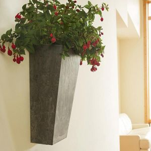 19.5in. Eloquence Tall Wall Planter -Choose from 2 colors