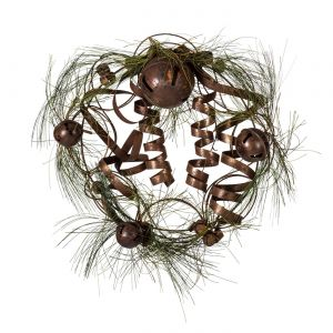 20in. Rustic Artificial Long Needle Pine Wreath w/ Bells