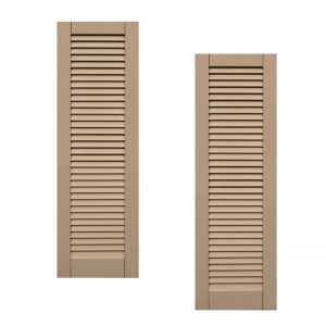 21in. Wide - Classic Collection  Wood & Resin Composite Louvered Shutters (pair)