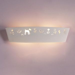 "23.5"" Kittens, Dogs & Daisies Children's Bathroom Sconce"