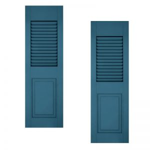 24in. Wide - Architectural Collection Combination Composite  Fiberglass Shutters (pair)