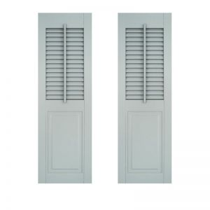 15in. Wide - Architectural Collection Combination Shutters w/ Faux Tilt Rod (Pair)