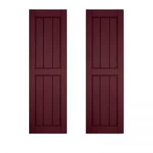 15in. Wide - Architectural Collection V-Groove Flat Panel Shutters (Pair)