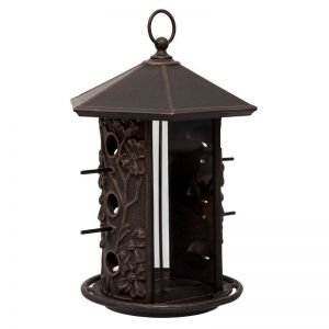 Dogwood Aluminum Bird Feeder - Oil Rubbed Bronze Finish