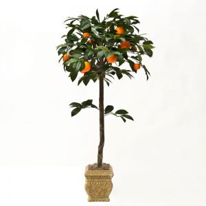 4.5' Artificial Orange Fruit Topiary