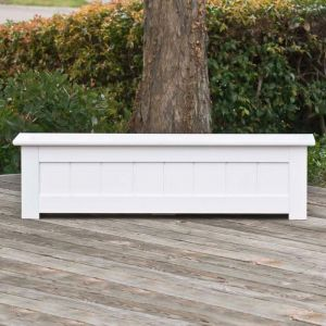 48in. Coronado Premier Deck Planter w/ Feet 12in. W x 12in. H