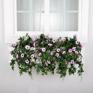 DIY Window Box Recipes-Partial Exposure UV Rated Artificial Morning Glories- Select Size