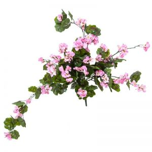 24in. Pink Geranium Hanging Vine, Outdoor Rated