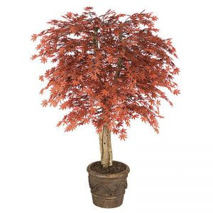 6' Artificial Outdoor Japanese Maple, Burgundy