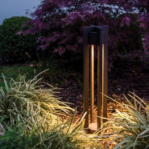 Modern Chamber 120V Line Voltage LED Bollard - 2 Colors Available