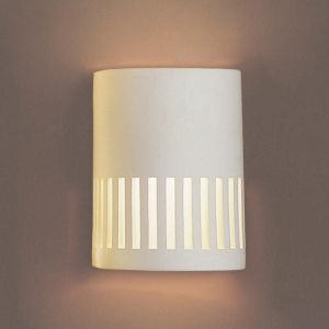 """7""""  Cylinder Sconce w/ Rectangular Cut Outs"""