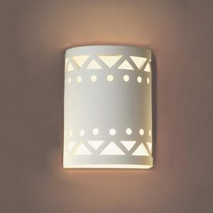 "7"" Drum Motif Ceramic Sconce"