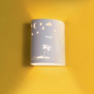 "7"" Starry Tropical Island Children's Sconce"