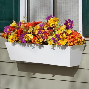 Tapered Cellular PVC Window Boxes- White- on Sale!