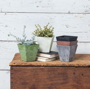 "8"" Eloquence Square Planter"