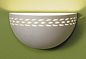 "9.5"" Maize Bordered Clean Bowl Wall Sconce"