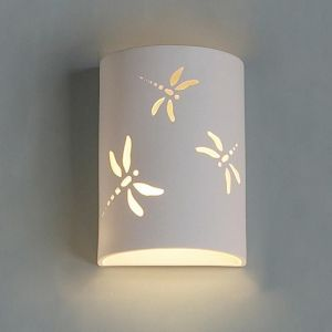 "9""  Dragonfly  Themed Cylinder Sconce"