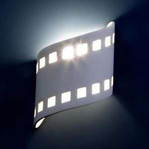 "9""  Flowing Filmstrip Wall Sconce"