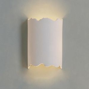 "9""  Modern Rough Edge Cylinder Sconce"